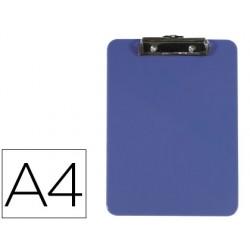 Portanotas q-connect plastico din a4 azul 3 mm 77879-KF21625