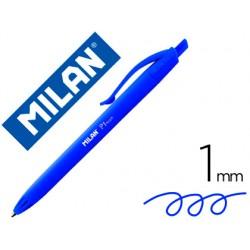 Boligrafo milan p1 retractil 1 mm touch azul 154002-176510925