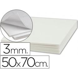 Carton pluma liderpapel adhesivo 1 cara 50x70 cm espesor 3 mm