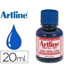 Tinta artline azul para rotulador pizarra blanca 500-a frasco