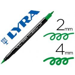 Rotulador lyra aqua brush acuarelable doble punta fina y pincel