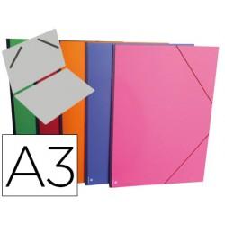 Carpeta planos clairefontaine din a3 con gomas carton gofrado