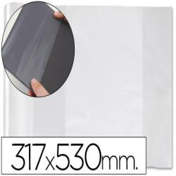 Forralibro pvc con solapa ajustable adhesivo 310x530 mm