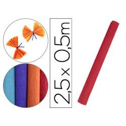 Papel crespon liderpapel rollo de 50 cm x 2,5 m 85g/m2 rojo