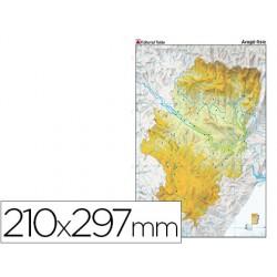 Mapa mudo color din a4 aragon fisico 79427-7224-7