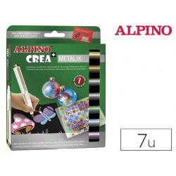 Rotulador alpino crea metalix caja de 7 colores 79241-AR000134