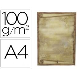 Papel pergamino liderpapel din a4 diploma 100 g/m2 paquete de