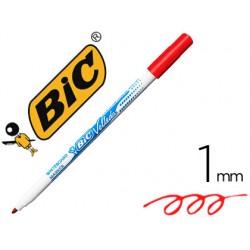 Rotulador bic velleda fino para pizarra rojo punta redonda 1 mm
