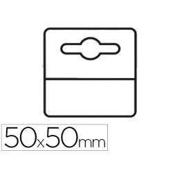 Etiqueta colgador adhesiva 3l office en pvc 50x50 mm pack de