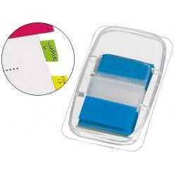 Banderitas separadoras q-connect azules dispensador de 50