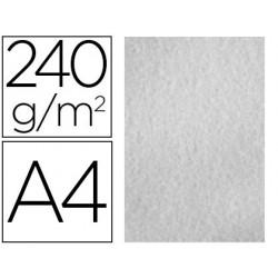Papel color liderpapel pergamino a4 240g/m2 gris pack de 25