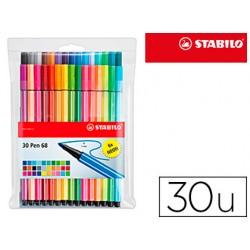 Rotulador stabilo acuarelable pen 68 estuche de 24 colores