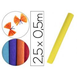 Papel crespon liderpapel rollo de 50 cm x 2,5 m 85g/m2 amarillo