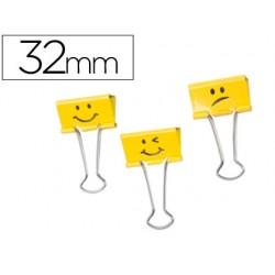 Pinza metalica rapesco reversible 32 mm emojis amarillo caja de