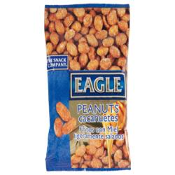 Cacahuetes fritos con miel eagle snacks ligeramente salados 75g