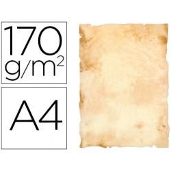 Papel pergamino liderpapel din a4 papiros con bordes 170 g/m2