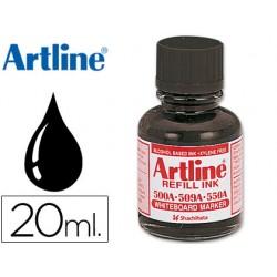 Tinta artline negro para rotulador pizarra blanca 500-a frasco