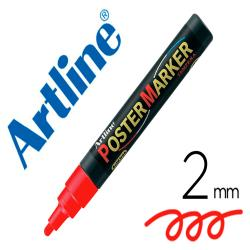 Rotulador artline poster marker epp-4-roj punta redonda 2 mm