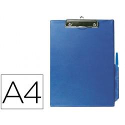 Portanotas q-connect miniclips pvc din a4 azul 77878-KF01297
