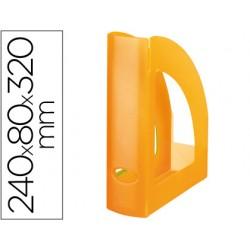 Revistero plastico q-connect naranja translucido 43603-KF04215