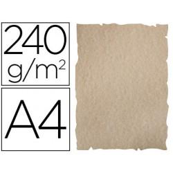 Papel color liderpapel pergamino con bordes a4 240g/m2 arena