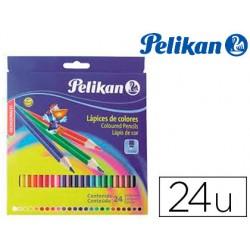 Lapices de colores pelikan hexagonales 24 colores caja de