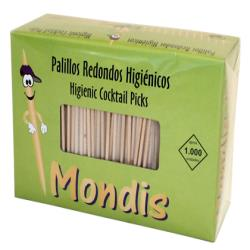 Palillos de dientes enfundados en celofan paquete de 1000