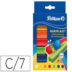 Plastilina pelikan nakiplast 196/7 caja 7 colores surtidos