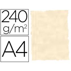 Papel color liderpapel pergamino con bordes a4 240g/m2 hueso