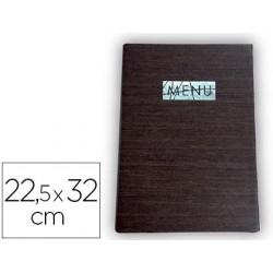 Porta menus liderpapel pu 22,5 x 32 cm con sujeccion en