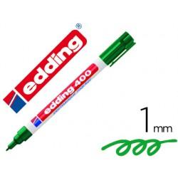 Rotulador edding marcador permanente 400 verde punta redonda 1