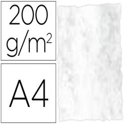 Papel pergamino din a4 troquelado 200 gr color marmoleado gris