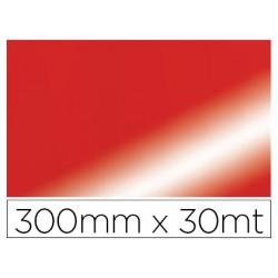 Papel fantasia colibri simple metalizado rojo bobina 300 mm x