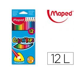 Lapices de colores maped 183212 triangulares caja de 12unid