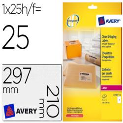 Etiqueta adhesivas avery din a4 imprimibles transparente