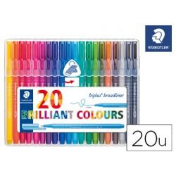 Rotulador staedtler triplus brilliant colours broadliner