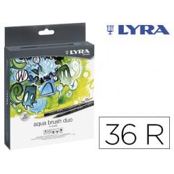 Rotulador lyra aqua brush duo caja de 36 colores surtidos