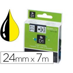 Cinta dymo 1000 negro-amarillo 24 mm x 7 m d1 77778-S0720980