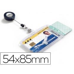 Identificador con cordon extensible durable doble uso
