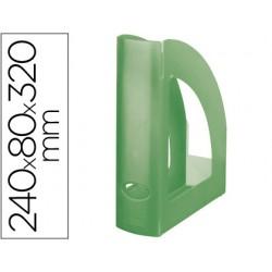 Revistero plastico q-connect verde translucido 43605-KF04212
