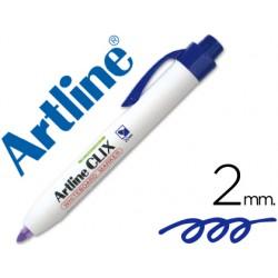 Rotulador artline clix pizarra ek-573a azul punta retactil