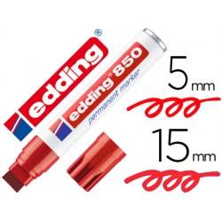 Rotulador edding marcador permanente 850 rojo punta biselada
