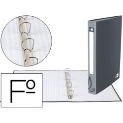 Carpeta de 4 anillas 25mm redondas liderpapel folio carton