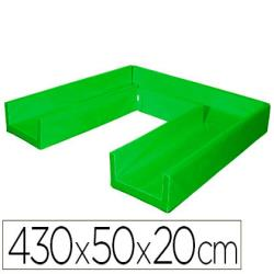 Circuito modular de gateo sumo didactic 430x50x20 cm verde