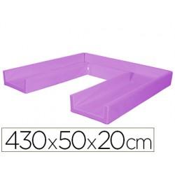Circuito modular de gateo sumo didactic 430x50x20 cm lila