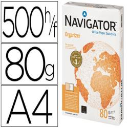 Papel fotocopiadora navigator din a4 80 gramos 2 taladros papel