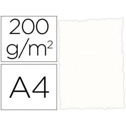 Papel pergamino din a4 troquelado 200 gr color rustico blanco
