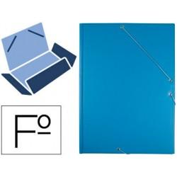 Carpeta liderpapel gomas folio 3 solapas carton forrado pvc