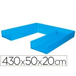 Circuito modular de gateo sumo didactic 430x50x20 cm azul