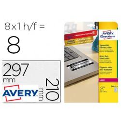 Etiqueta adhesiva avery poliester plata 210x297 mm laser pack